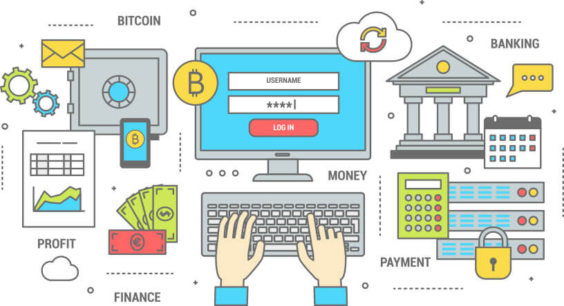 How Bitcoin Transaction works -  Diagram By Virtual MLM Software Company